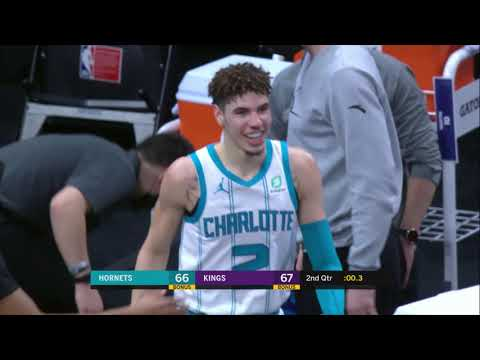 LaMelo Ball Was All Smiles After This Effort Play vs. Kings