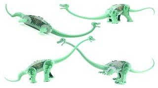 4 Lego Dinosaurs Brachiosaurus 6719 - Plesiosaurus Diplodocus Plateosaurus- Lego Dino Speed Build