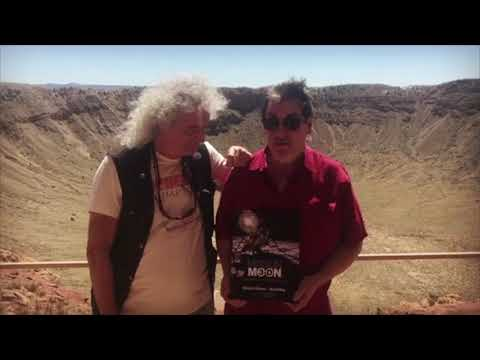 "Brian May & David Eicher informal trailer ""Mission Moon 3-D"" book"