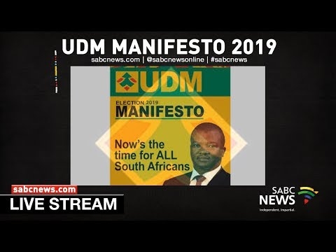 UDM Manifesto launch, Port Elizabeth: 16 February 2019
