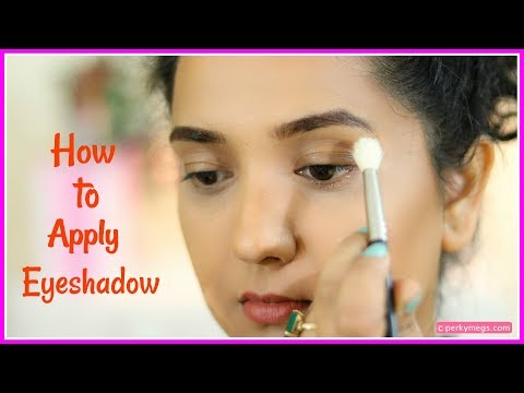 How To Apply Eyeshadow For Beginners | 4 Easy Steps | Perkymegs