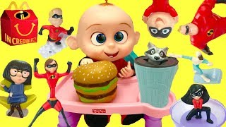 The Incredibles 2 Full Set of Happy Meal 2018
