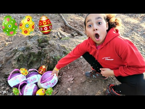 Easter Egg Treasure Hunt In A Forest! LOL Pearl Surprise Toys | Toys AndMe