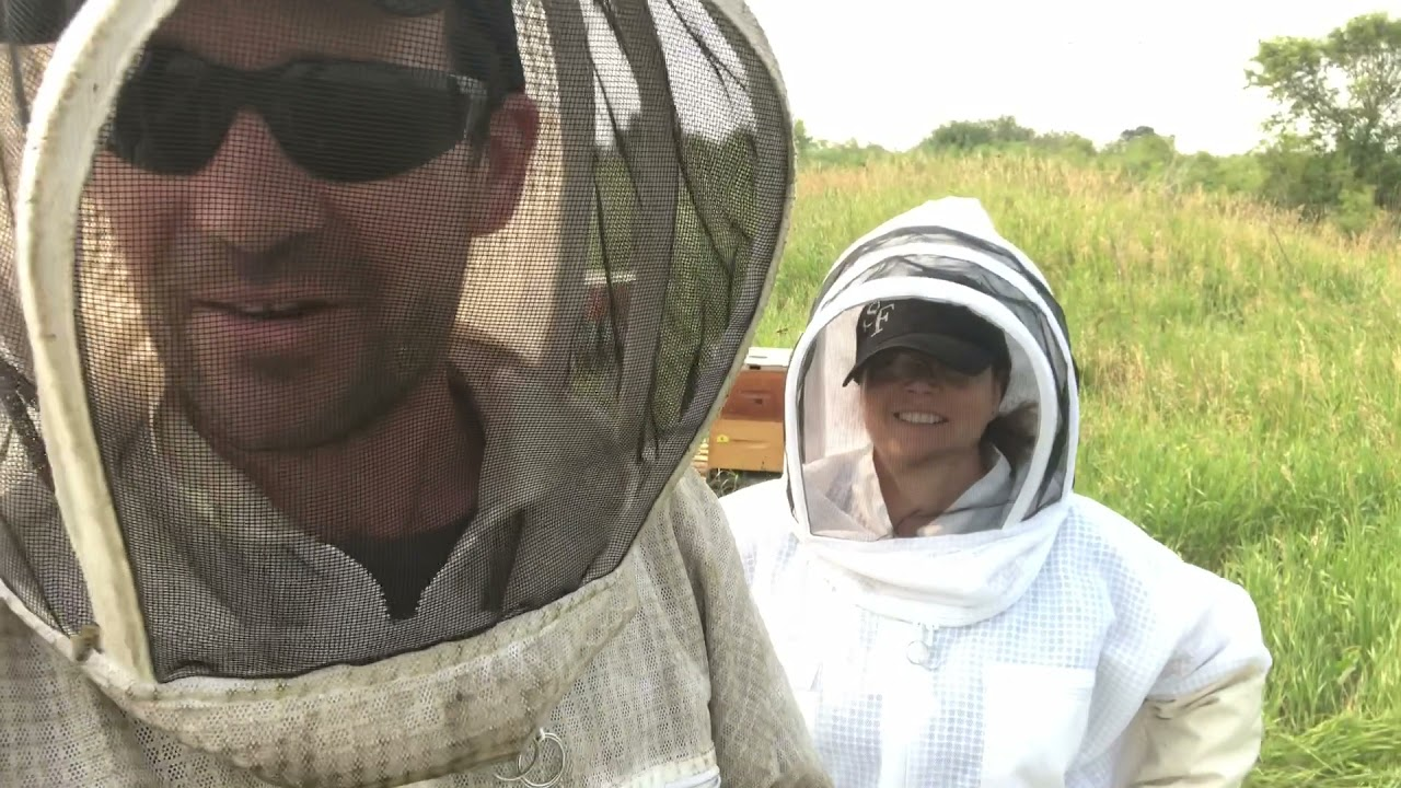 Sandy (my wife) is Back in a Bee Suit