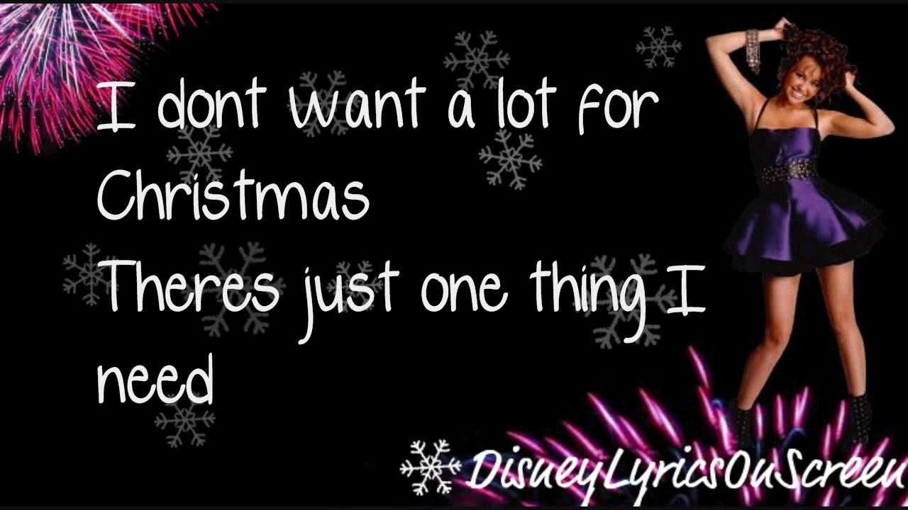 Miley Cyrus - All I Want For Christmas Is You (Lyrics On Screen ...