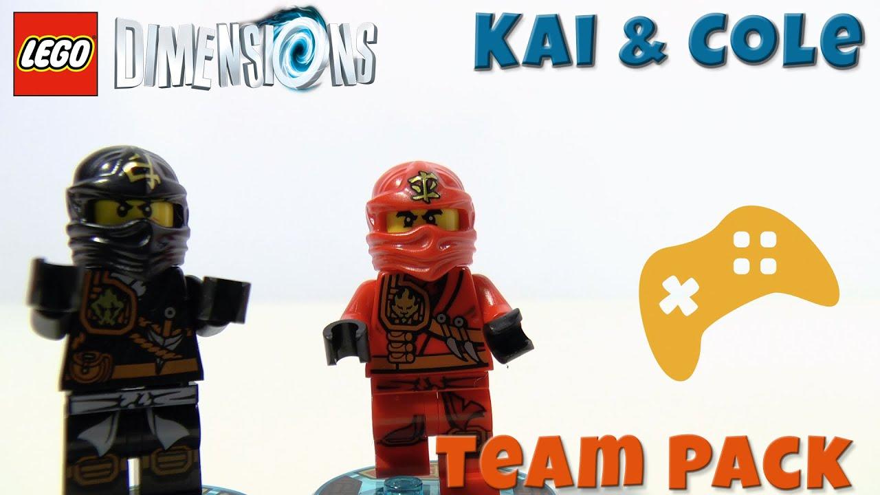 Ongebruikt LEGO Dimensions poppetjes - Cole en Kai Ninjago team pack - YouTube LL-77