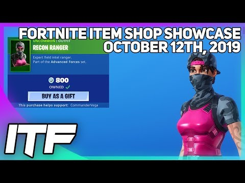 Fortnite Item Shop RECON RANGER IS BACK! [October 12th, 2019] (Fortnite Battle Royale)