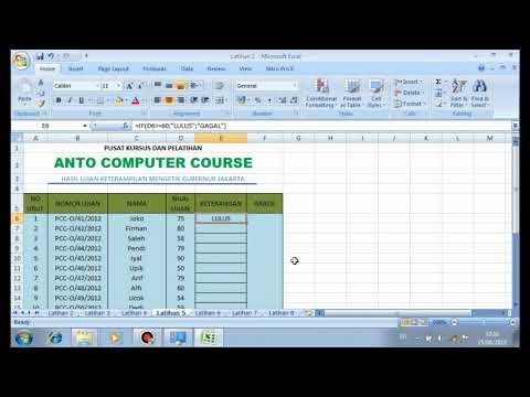 Cara Membuat Aplikasi Nilai Dengan Excel