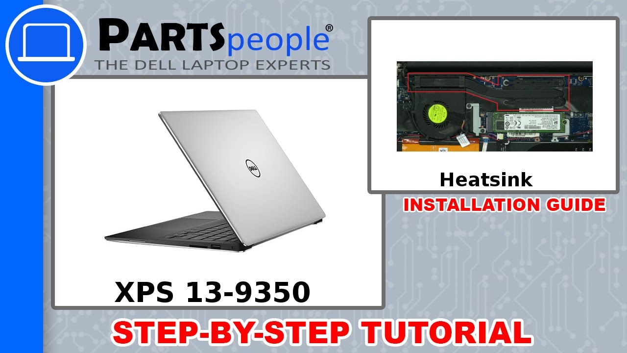 Dell XPS 13-9350 (P54G002) Heatsink How-To Video Tutorial