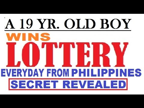 A 19 year old Guy from philippines figure out how to win the lottery daily!