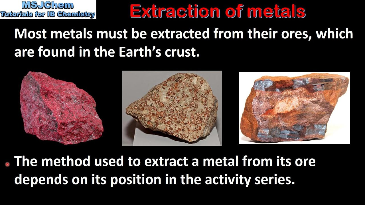 How are metals extracted from their ores?