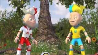 Official UEFA Euro 2012 Mascots Slavek And Slavko