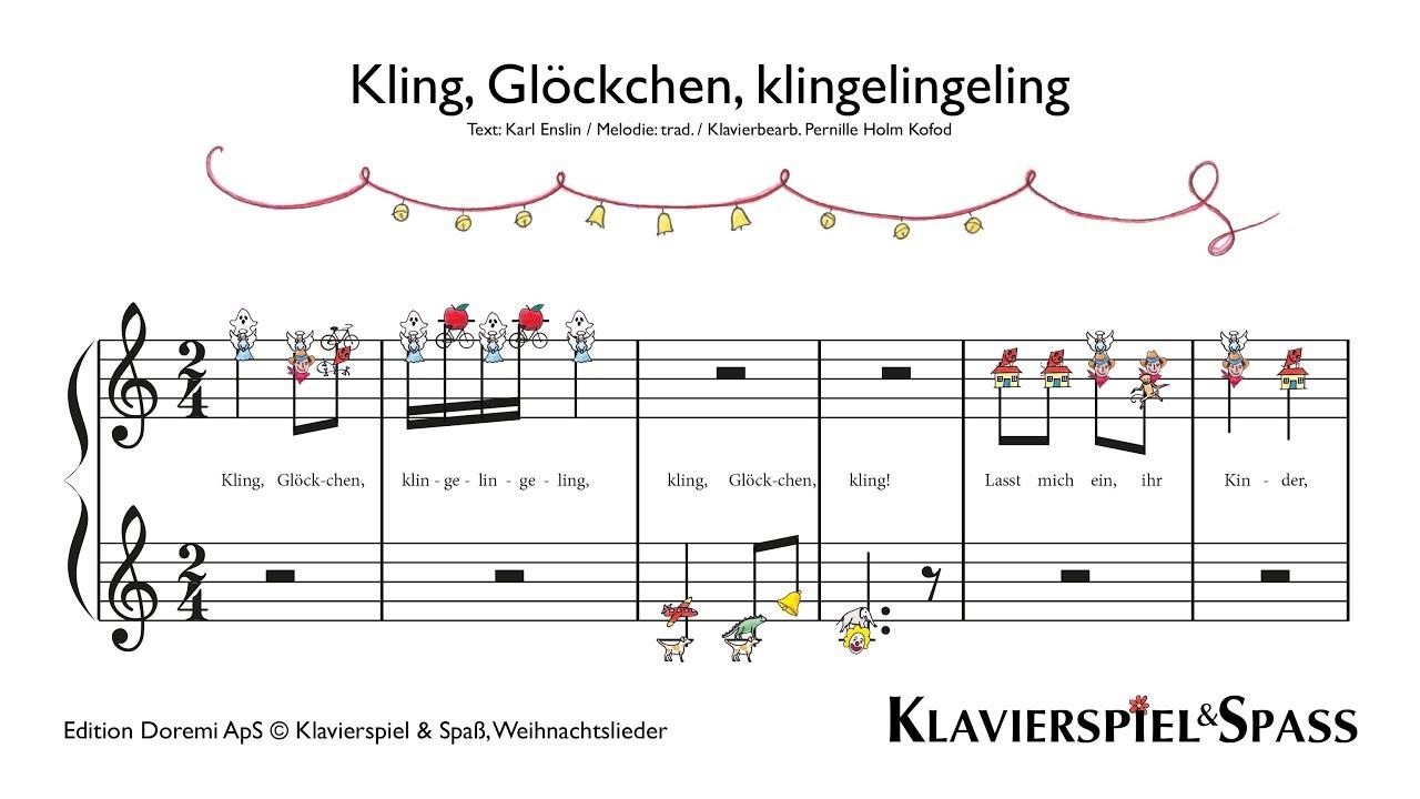 Kling Glöckchen, Weihnachtslieder, Klavier - YouTube