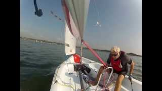 Solo around Fleet Bay, Dumfries and Galloway in a Laser Bahia.