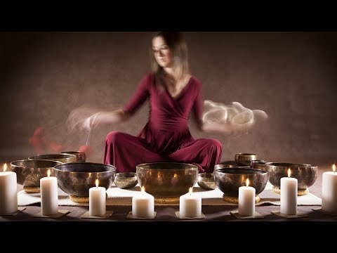 Tibetan Healing Sounds┇Singing Bowls @ 528Hz + Fire Sounds