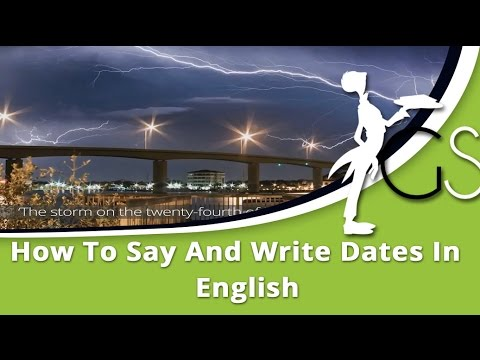 how to write dates in english canada