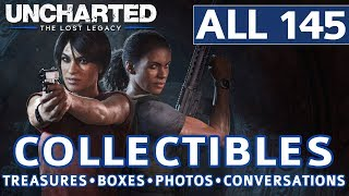 Uncharted The Lost Legacy - All Collectibles Locations (Treasures, Photos, Lockboxes, Conversations)