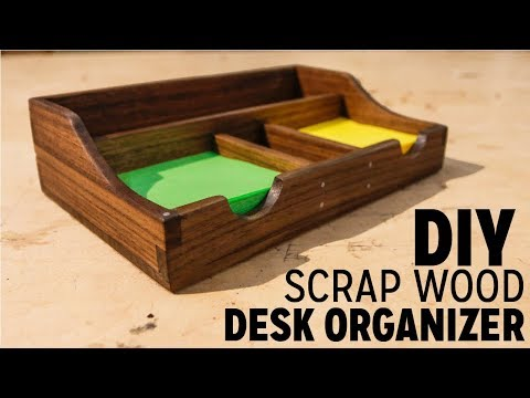 DIY Scrapwood Desk Organizer