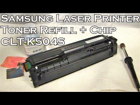How To Refill Samsung Laser Printer Toner CLT-K504S (For Printer Model CLP-415NW C1810W )