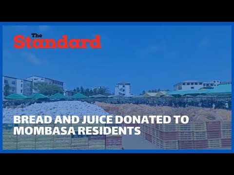 Thousands of Mombasa residents throng Agakhan primary grounds for a donation of bread and juice