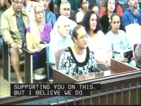 Salamasina Taala Waimea Valley Kauai Testifies in Support of Bill 2491 Override of Mayor Veto