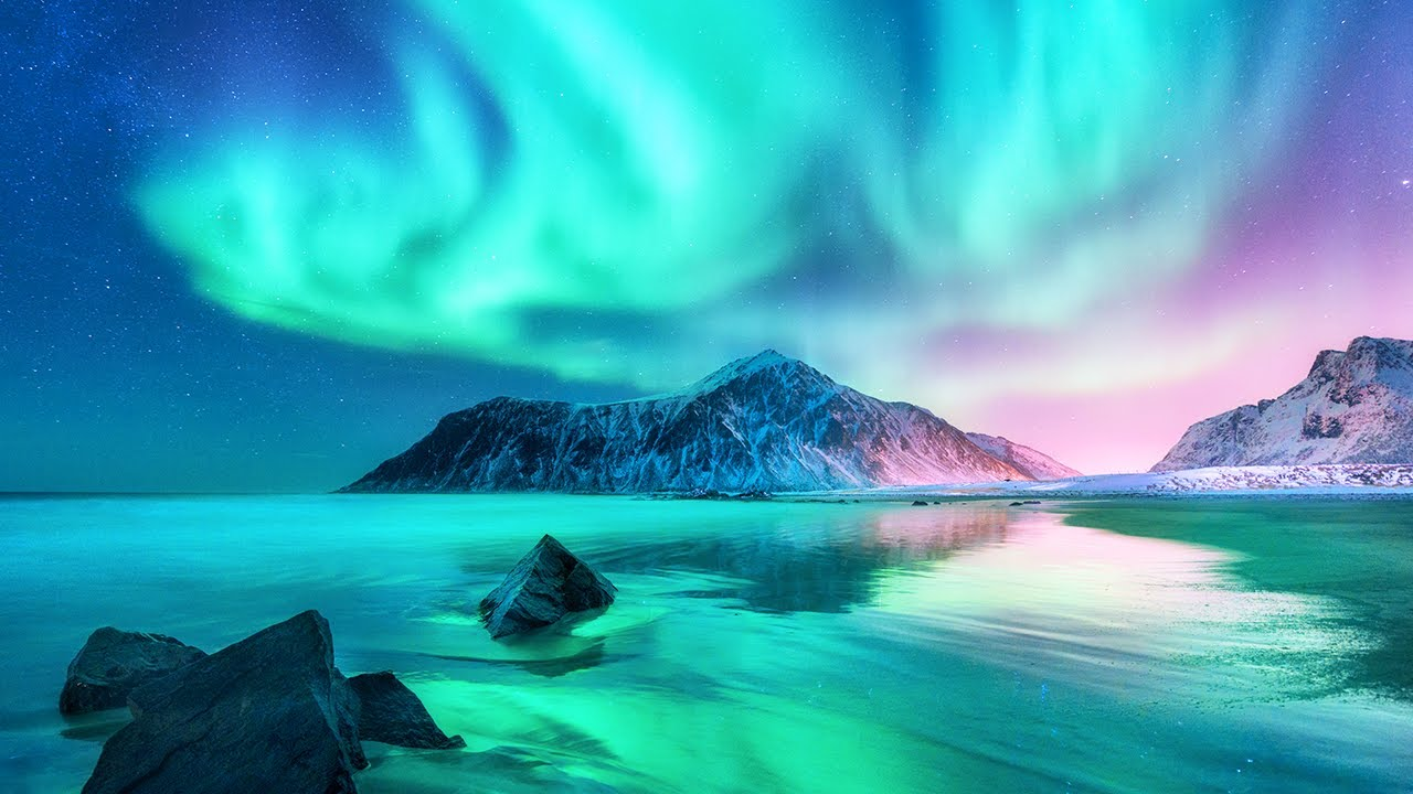 Download Aurora Borealis And Northern Lights - Relaxing Ambient Music for Sleep, Study & Stress Relief