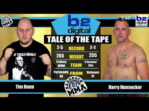 Hardrock MMA 97 Fight 9 Harry Hunsucker vs Tim Dunn Heavyweight PRO