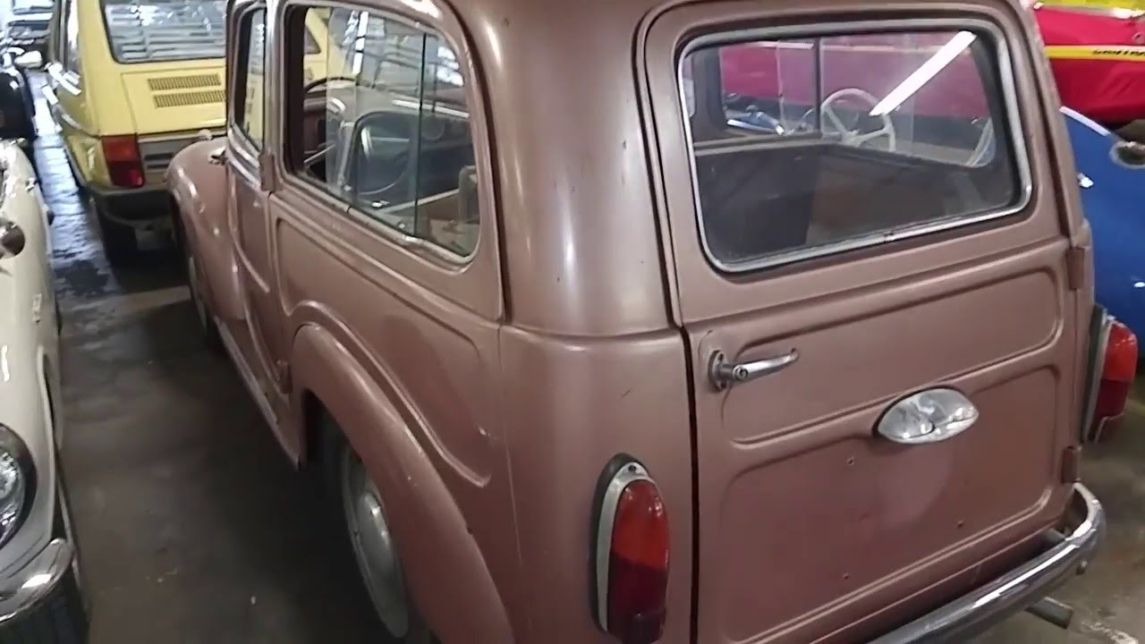 1954 Fiat 500c Station Wagon Youtube 500 For Sale