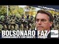 Bolsonaro e Michelle recebem oficiais-generais promovidos e presidente f...