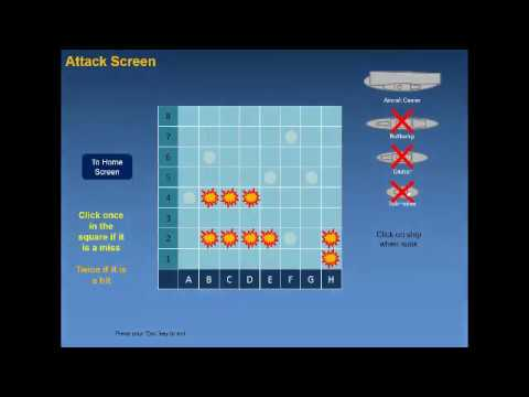 Battleships The Classic Game Produced On Powerpoint Free To