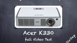 Acer K330 projector Video Test / Best Mobile Cinema By DustinDep