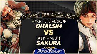 r/SF Didimokof (Dhalsim) vs Kusanagi (Sakura) - Combo Breaker 2019 Day 2 Pools - CPT 2019