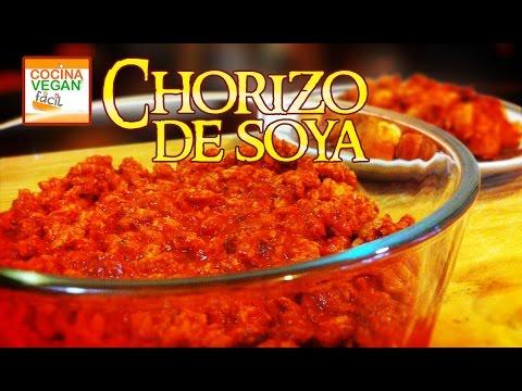 Chorizo de soya  Cocina Vegan Fcil  YouTube