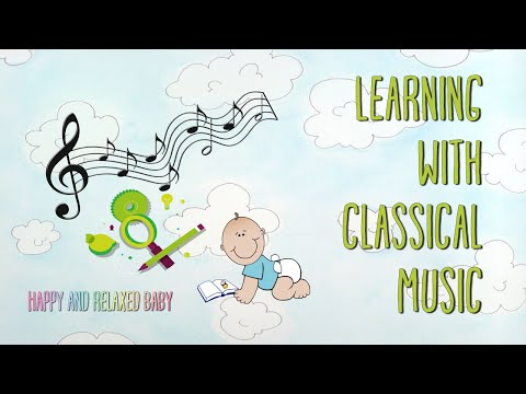 Farm animals and classical music in the background for babies