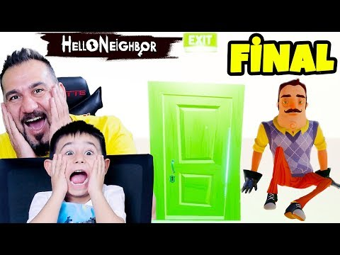 HELLO NEIGHBOR FİNAL!  RÜYA MI GERÇEK Mİ?| HELLO NEIGHBOR ACT 3 FINAL