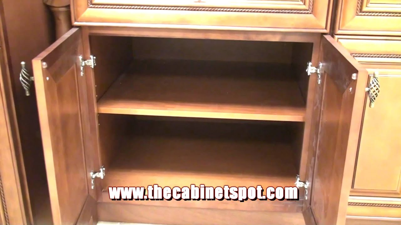 Mocha Rope Maple Cabinets by The Cabinet Spot - YouTube