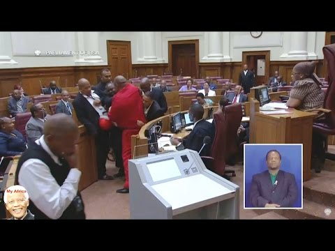 EFF Removed From NCOP And Zuma Laughs