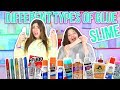 TESTING DIFFERENT TYPES OF GLUES FOR SLIME | tacky glue slime, stick glue | Slimeatory #41