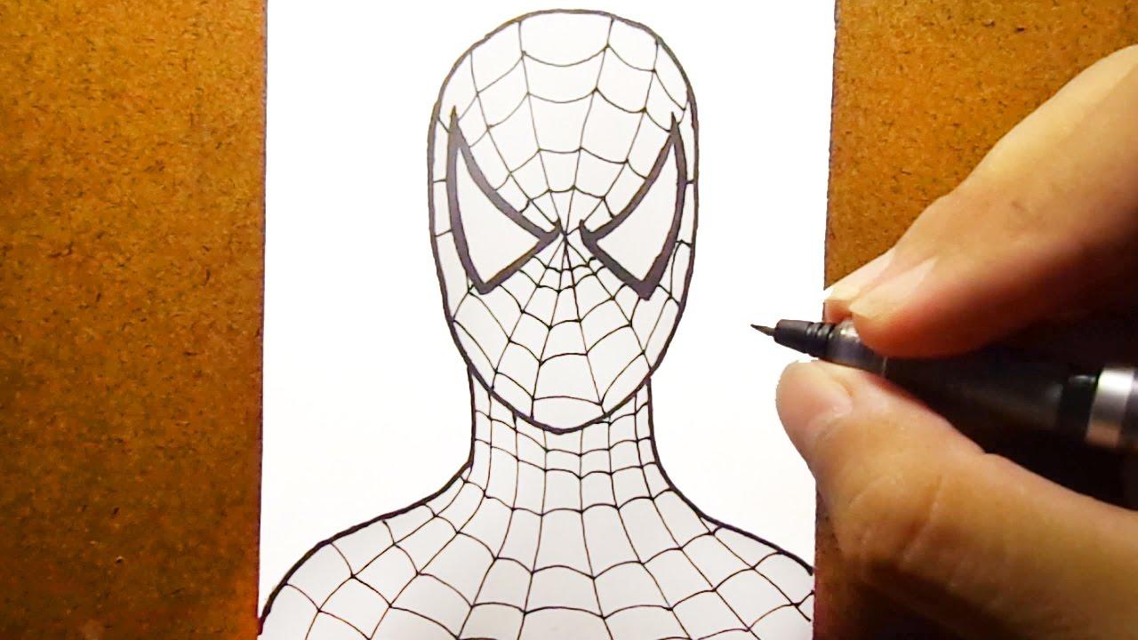 Como Desenhar O Homem Aranha Spider Man Super Heroi Youtube