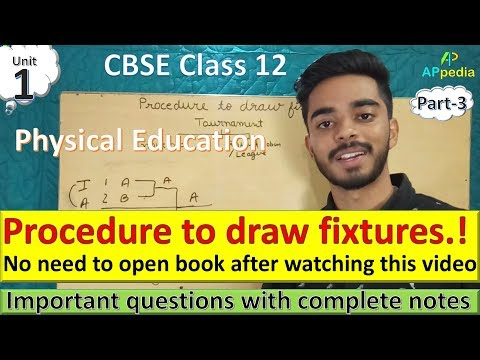 Procedure to draw Fixtures | Unit - 1 | Part - 3 | Knock-out | Round-Robin | Cyclic | Staircase