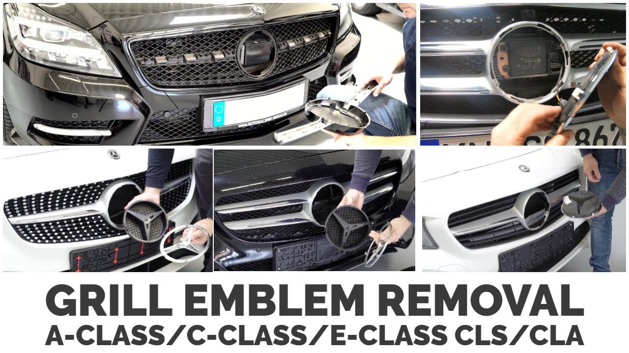 Download Mercedes Benz Grill Emblem Removal A-Class, C-Class, E-Class, CLS, CLA