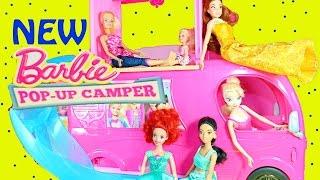 Barbie Pop Up Camper Rv Motorhome Worlds Biggest New 2015 Pool Fun Disney Princess Frozen Elsa