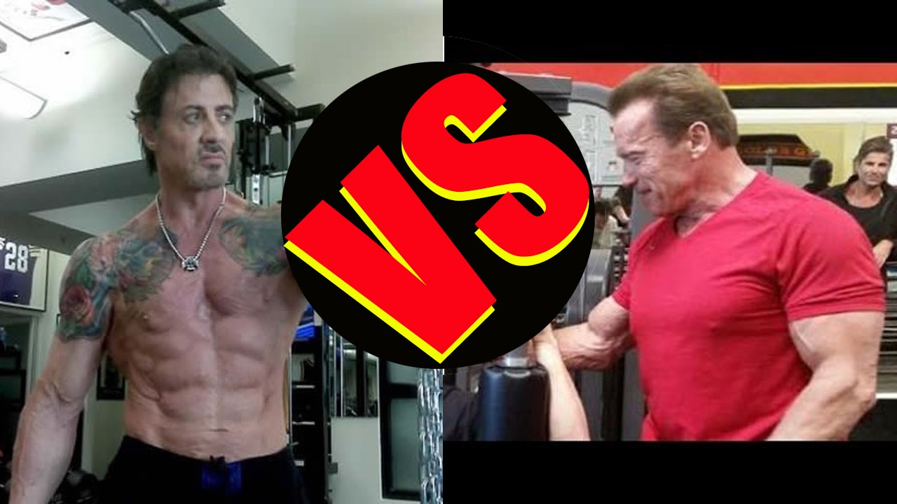 sylvester stallone vs arnold schwarzenegger bodybuilding