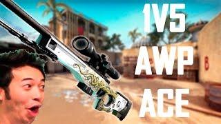 CS GO - EPIC 1V5 AWP ACE!