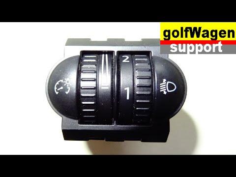 Headlight adjustment replacing on VW Golf, VW Passat, Skoda