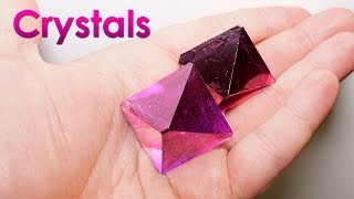Grow Purple Single Crystals of Salt at Home! DIY Home Decorations!