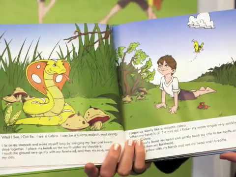 childrens yoga books presents children having fun doing