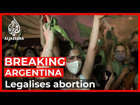 Argentine Senate approves bill to legalise abortion