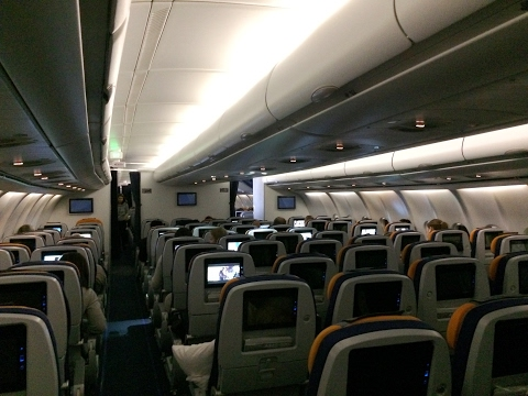 Lufthansa Airbus A340-600 Economy Class Review (TOILET DOWNSTAIRS?!)
