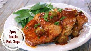 Spicy Tomato Pork Chops - DELICIOUS